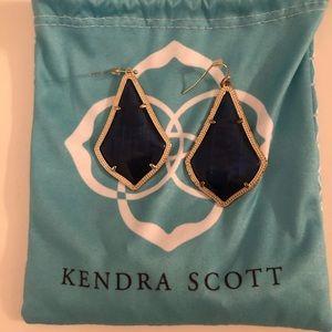 """Kendra Scott Alexandra Earrings- """"Navy Cat Eye"""""""